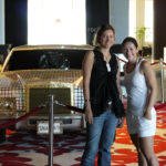 Ivonne & Marisol in front of Madonnas limo
