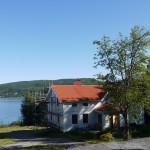 Vy över mitt hus i Örnsköldsvik