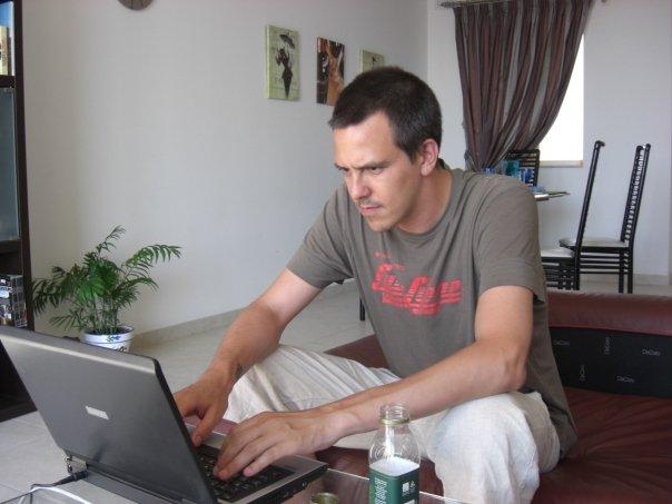 Magnus Bråth i arbete på Malta